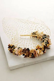 Forest Flowers Veil Headband