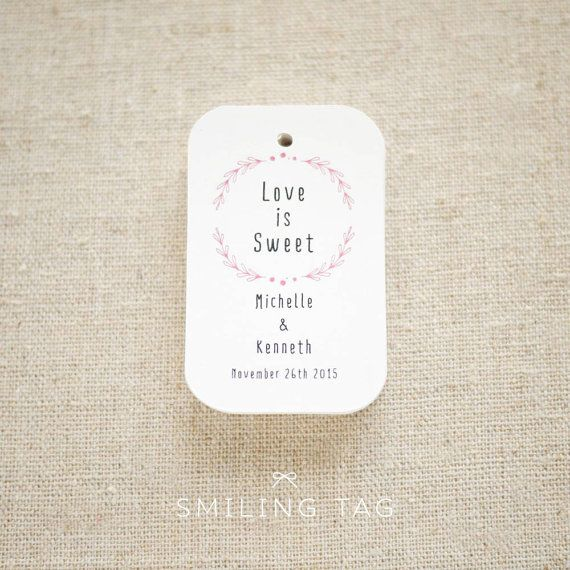 Love Is Sweet Personalized Gift Tags