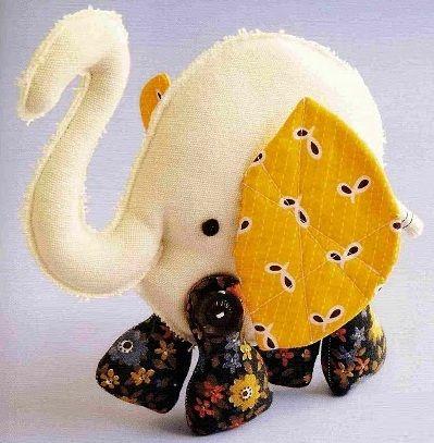 слон мягкая игрушка выкройка 1