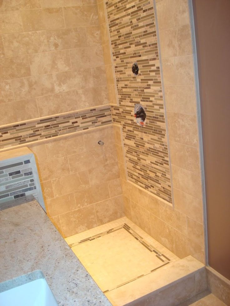 18 best images about bathroom tile ideas on pinterest for Bathroom travertine tile designs