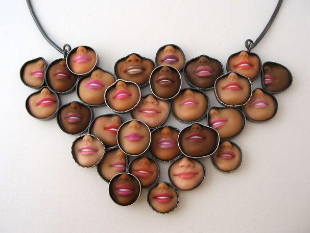 Freeeeeaky!!!: Barbie Necklaces, Barbie Faces, Barbiefaces, Margaux Lang, Barbie Jewelry, Art, Serial Killers, Recycled Barbie, Barbie Dolls