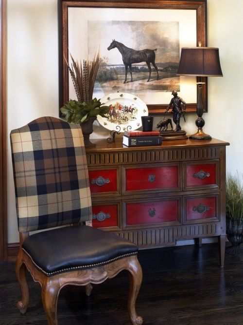Love the chest of drawers ....Classic English entryway decor. Pretty, but masculine as well!