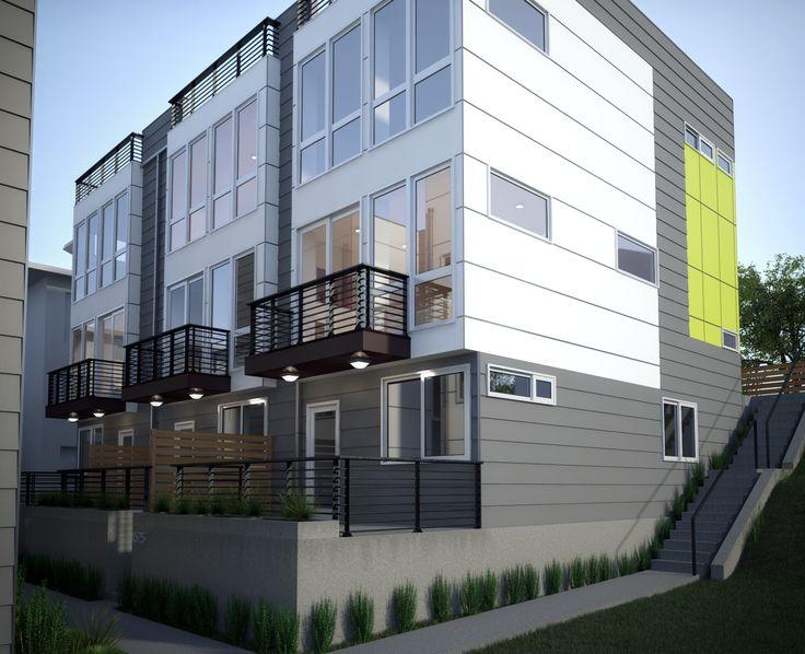 3 Townhomes, 2 Urban Single Family Homes