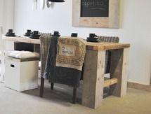 Steigerhout Tafel | Houten Tafel - Steigerhouten tafels| Sloophout tafel | Dutchwood