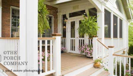 great idea, i could do this, make an entrance on the right and screen in the whole side porch!