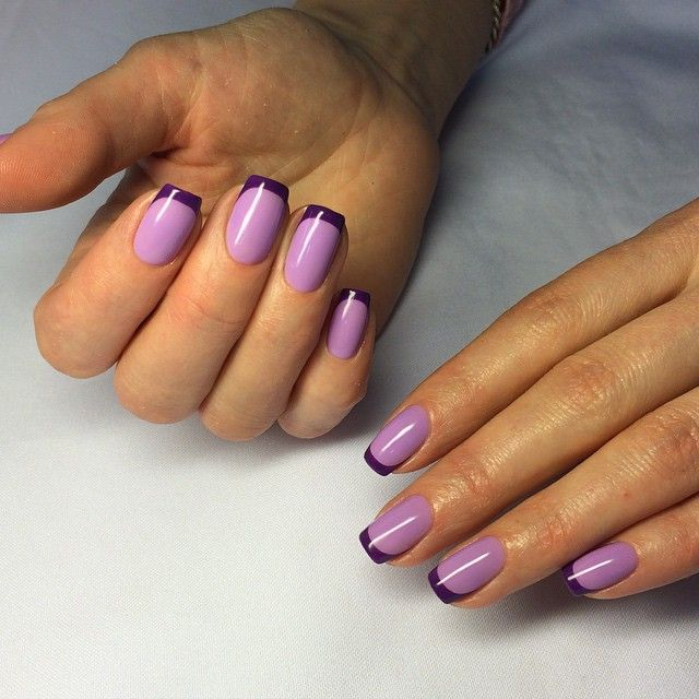 #nails #nailsdesign #manicure #spb #gelish #gellac #gelpolish #gellacquer #kodi #lechat #perfectmatch #bmg #violet#french #colorfrench #маникюр #гелиш #гельлак #спб #коди #лечат #ногти #френч #цветнойфренч #сиреневый#фиолетовый
