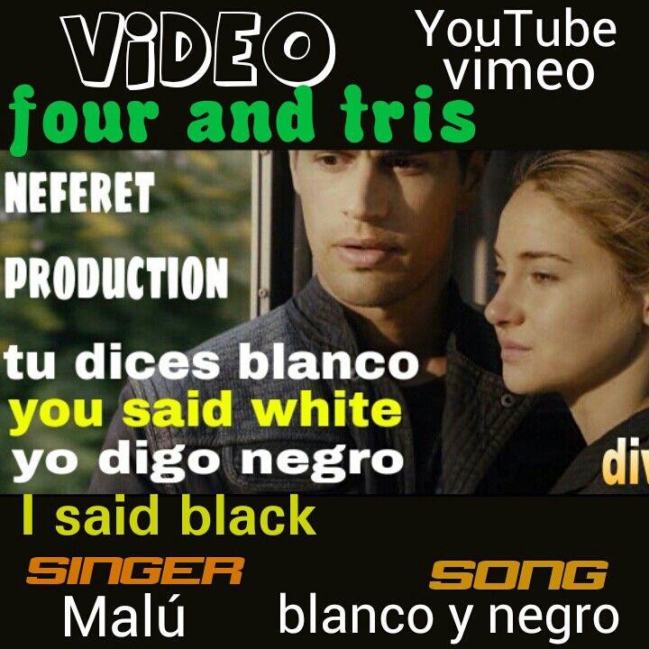 My next #video in #youtube #vimeo..#malú blanco y negro for #fourandtris soon...