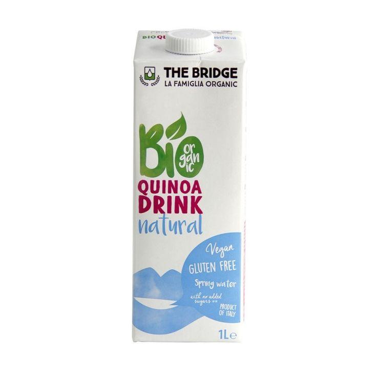 Lapte de quinoa bio, alternativa 100% vegetala la lapte, fara colesterol, fara gluten, fara lactoza, obtinut din cereale ecologice. Contine zaharuri naturale. Se poate utiliza la cafea, musli, deserturi etc.
