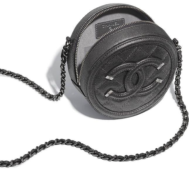 fc363622c4e0 Chanel CC Filigree Round Chain Clutch