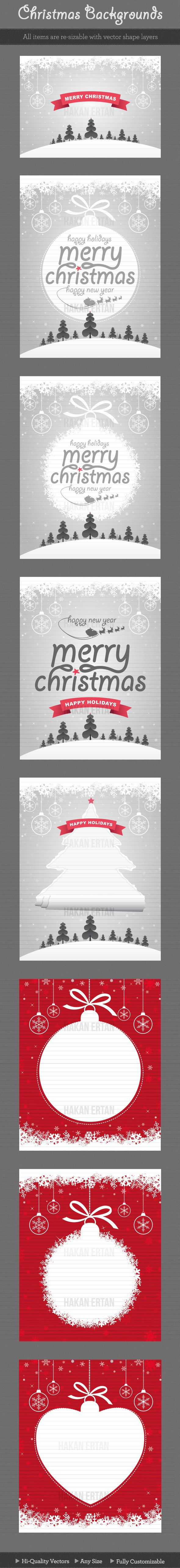 Christmas Backgrounds by hakan ertan, via Behance