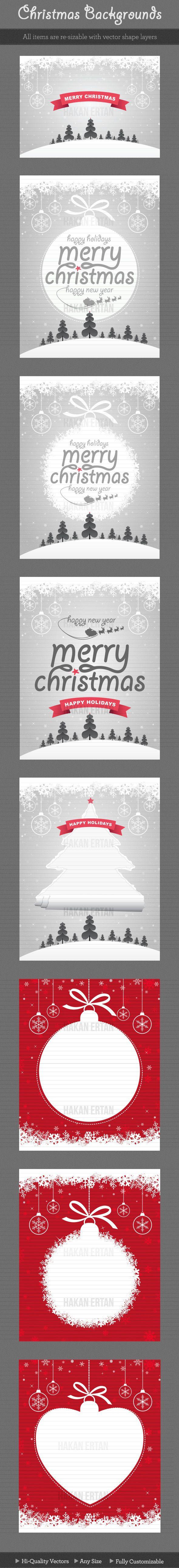 Christmas Backgrounds by hakan ertan, via Behance