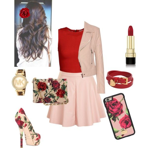 Red Rose Rainbow challenge Day #1 by angelina-garcia-1 on Polyvore featuring polyvore fashion style Alice + Olivia Balenciaga Glamorous Dolce&Gabbana Michael Kors Valentino Accessorize Casetify
