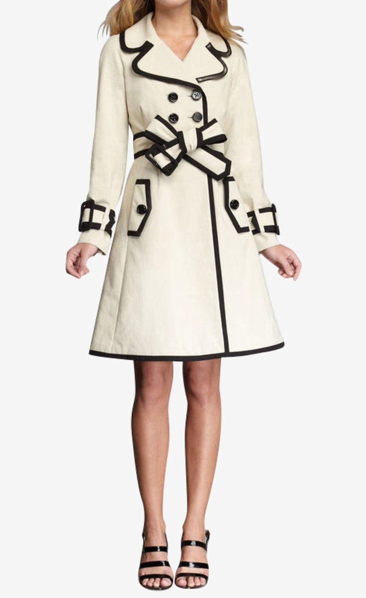 Kate Spade Coat. Love, love, love this. A modern twist on a classic trench.