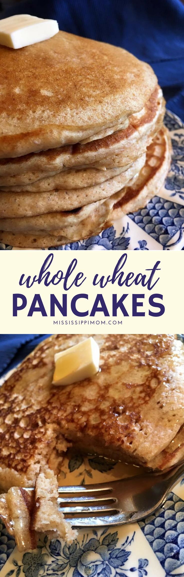 Your family will LOVE these whole wheat pancakes, which are easy to make and taste delicious!
