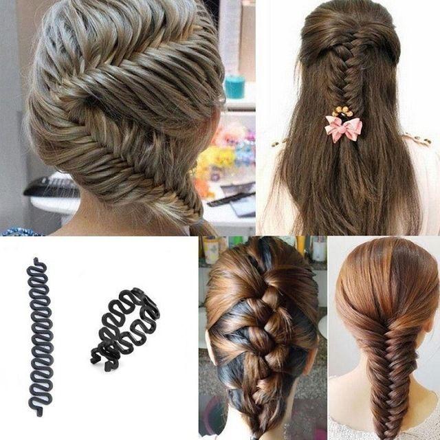 2016 New Roller Hair Styling Tools Weave Braid Hair Braider Tool Hair Styling Magic Twist Bun Maker Hair Roller Accessories