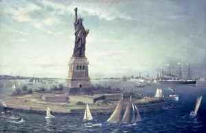 Liberty Island, New York Harbour, 1883  Fred Pansing