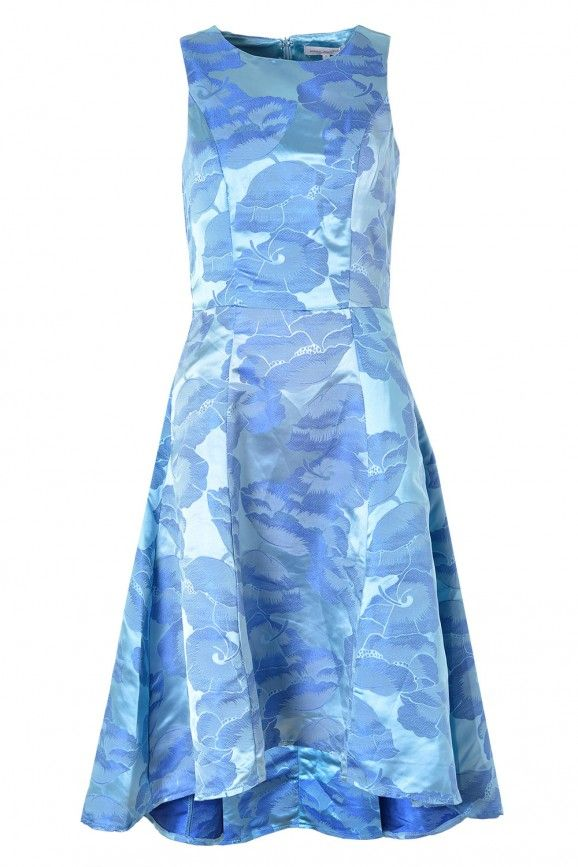 Julie Dipped Hem Dress in Aquamarine