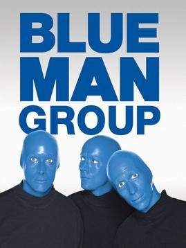 Blue Man Group Live  -- Las Vegas Got to meet them even kissed my ticket blue!