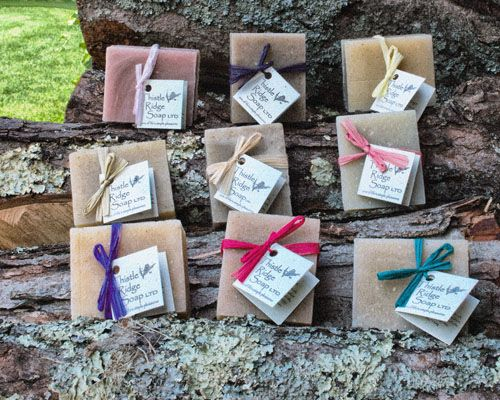 Brides take note. All natural soaps make for wedding favors everyone will remember. Choose any variety of nine of our strictly plant and citrus-oil derived fragranced soaps for only $46. Not getting married? Who needs an excuse for this! Be all of your friends favorite with this Thistle Ridge Soap custom collection option.
