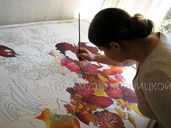 батик, курсы батика, silk painting, batik, silk painting workshop, hand painted silk, шелк, роспись по шелку, обучение
