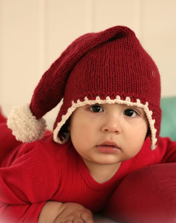 Baby Santa hat, Christmas hat, baby hat,toddlers hat,Christmas hat with pompom by VaniasCreations on Etsy