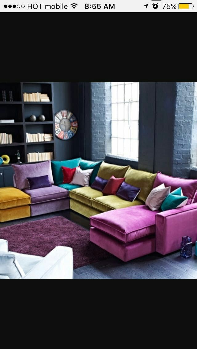 Chesterfield sofa modern grau  The 25+ best Multicoloured sofas ideas on Pinterest ...