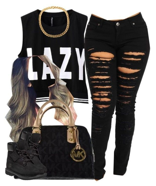"""""""."""" by trillest-queen ❤ liked on Polyvore featuring Michael Kors and Timberland"""