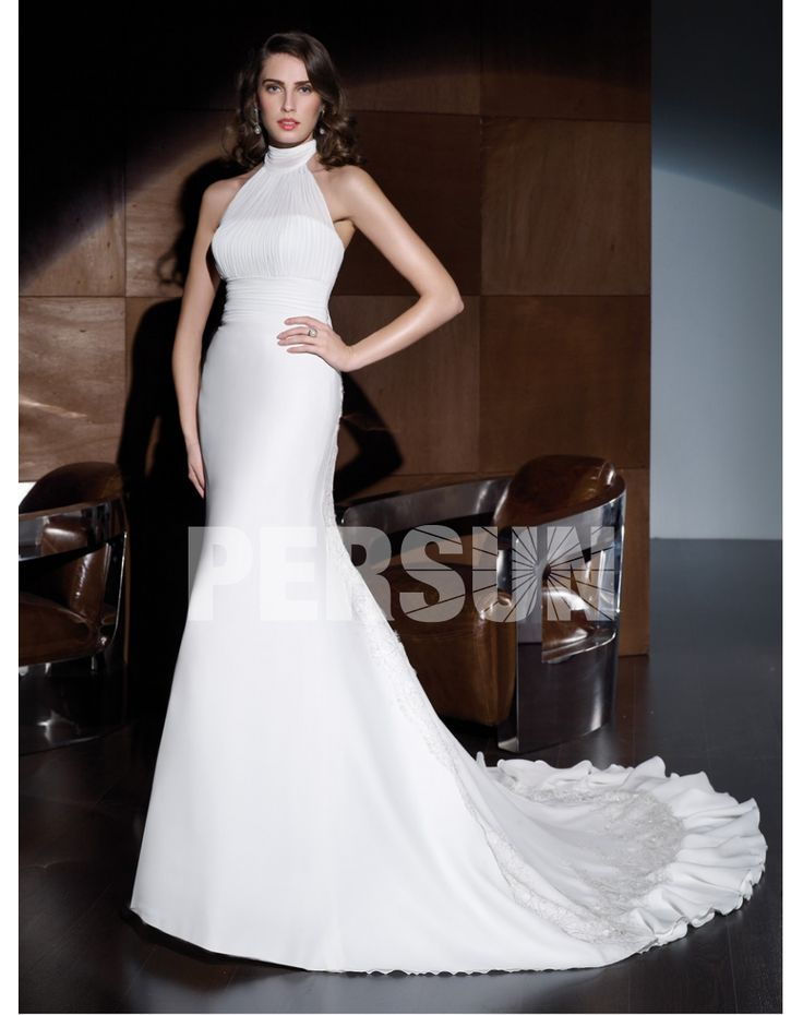 ELEGANT CHIFFON MANDARIN HIGH WAIST LACE UP WEDDING DRESS long prom dress  long prom dress  long prom dress  long prom dress