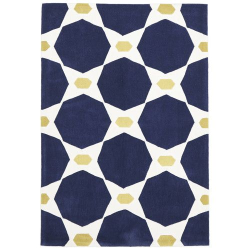 Network Rugs Hive Navy and Yellow Rug