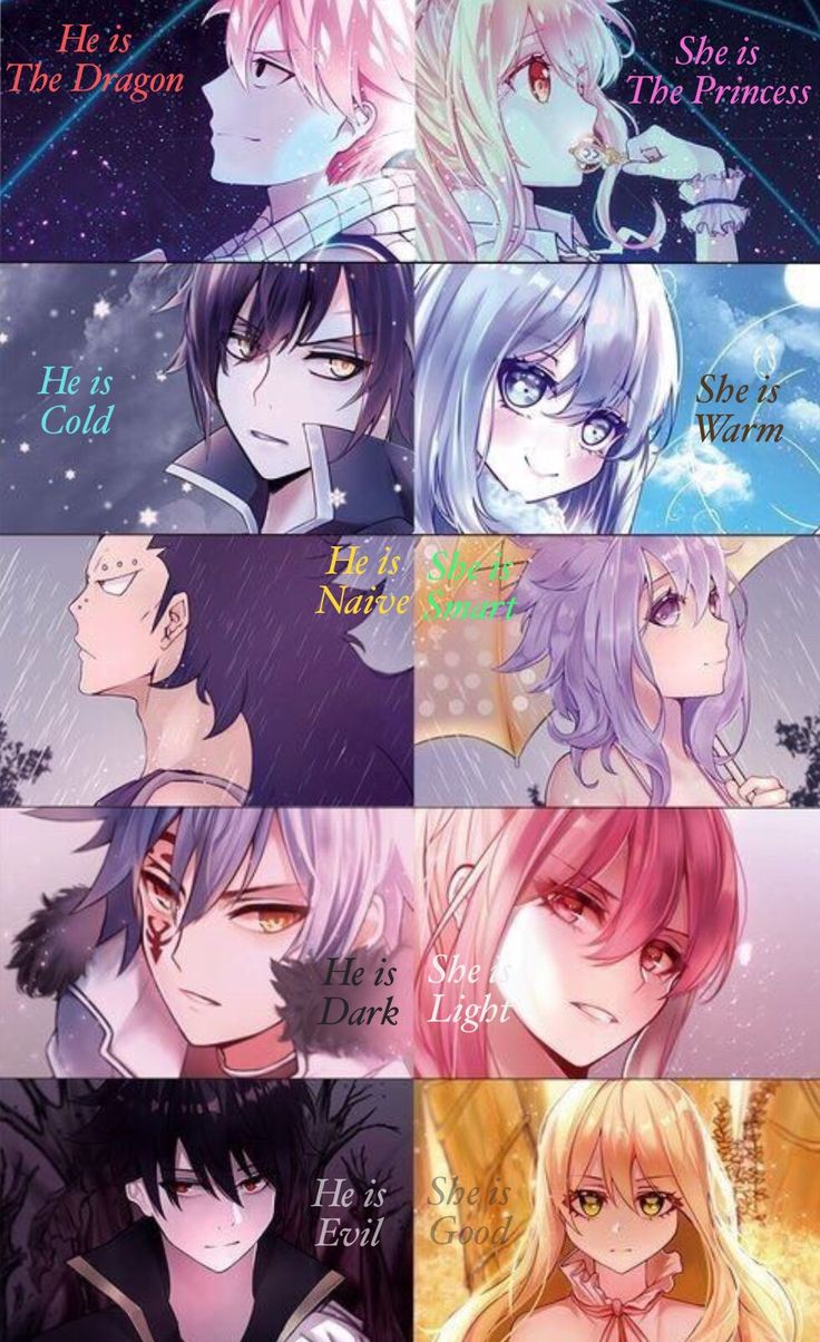 Fairy Tail Couples Light and Dark