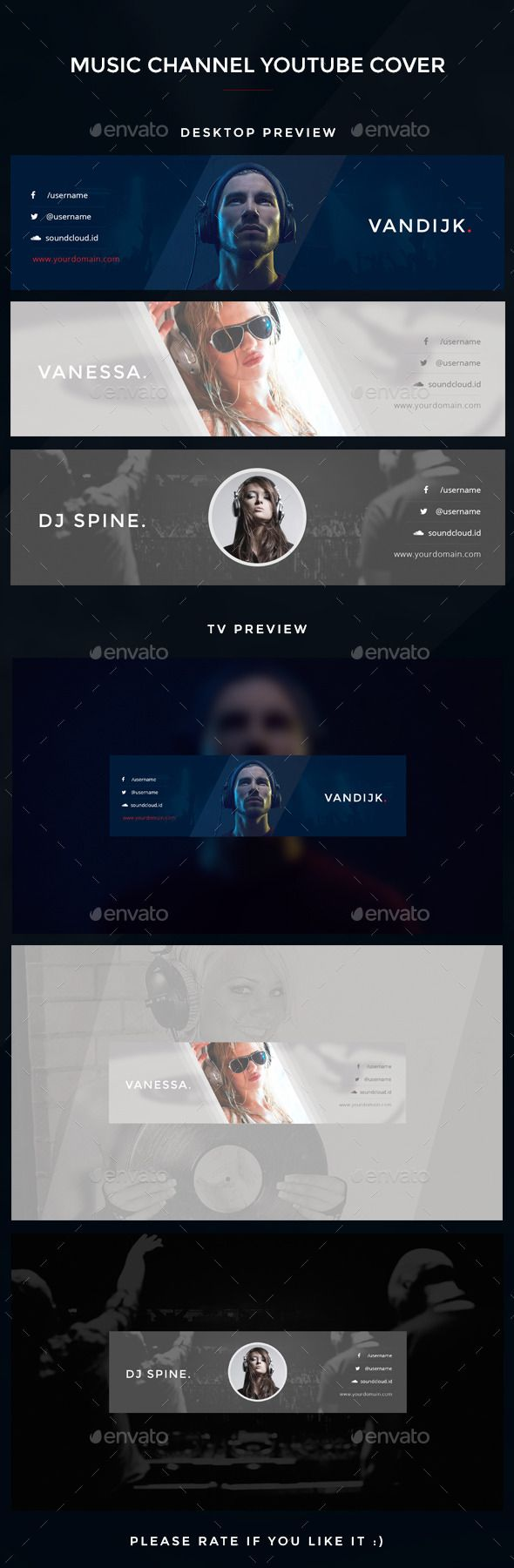 Youtube Music Channel Art Cover Template PSD. Download here: http://graphicriver.net/item/youtube-music-channel-art/12965317?ref=ksioks