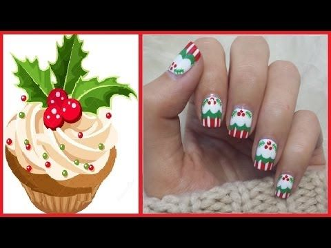 204 best thanksgiving christmas winter nail art video christmas cupcake nails christmas nails nail art designs video tutorial prinsesfo Choice Image