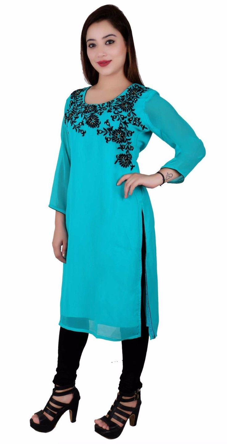 Indian Kurti Top Traditional Tunic For Bollywood Theme & Pre-Wedding Party 7019