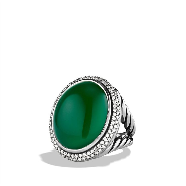 Signature Oval Ring with Green Onyx