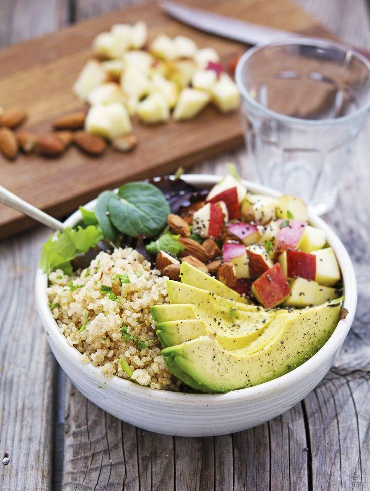 Quinoa Avocado and Apple Detox Salad