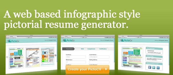 27 best Infographic & Visual Resume Tools images on Pinterest ...