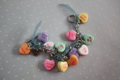 diy conversation heart charm bracelet tutorial - brilliant handmade valentine's day gift idea