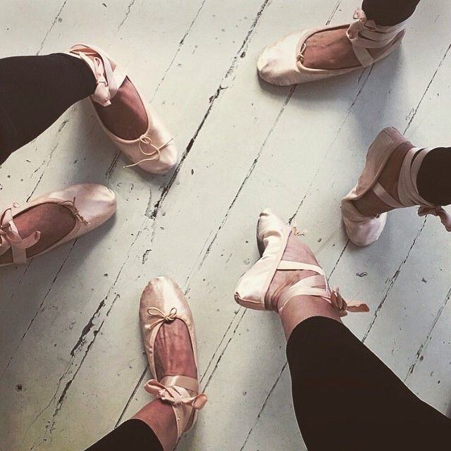 What dancers have to go through with point shoes! Breaking them in!