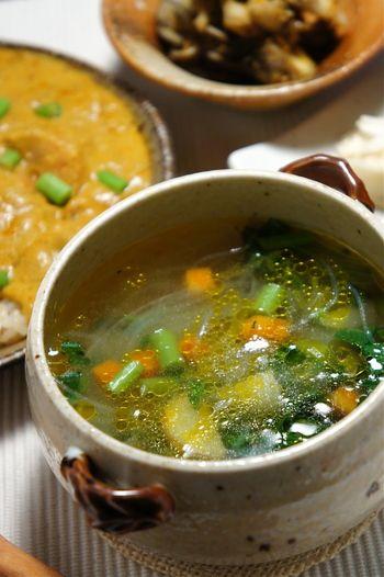 美容や風邪予防にも。ねばねば食材で冬の免疫力を高めましょ♪ | キナリノ モロヘイヤのスープ