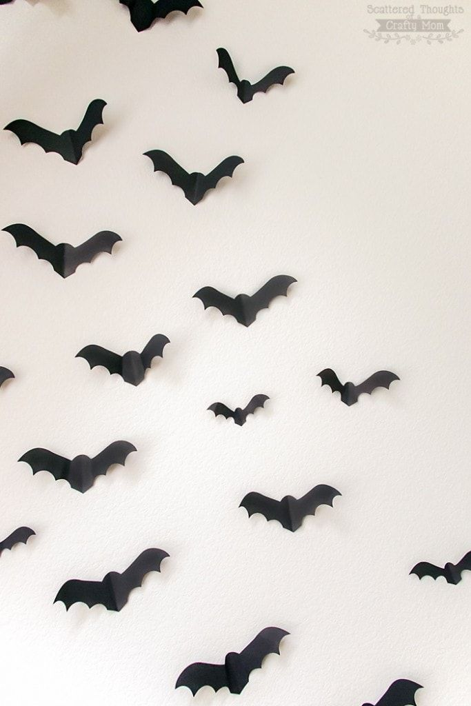 Bats On The Wall This Free Paper Bat Template Is A Perfectly