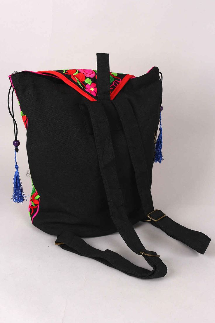 Choose from Trendy Handbags #Oriental Lotus Tassel Backpack  Price : $71.73 #instacraze #fashion #Bag #Womenbag