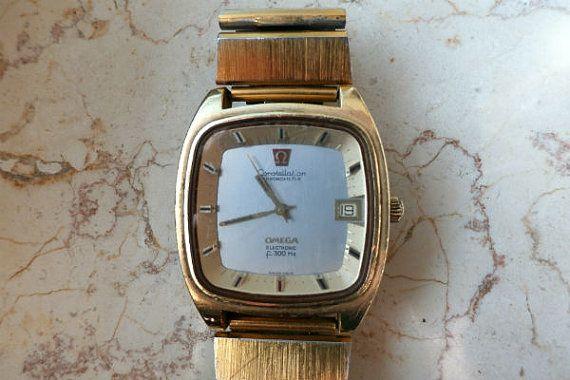 Omega Gold Watch Original 1970s Retro Men's Watch by GrandmasDowry