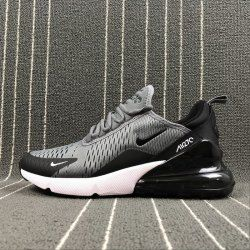 9ae24c635a16 Top Quality Nike Air Max 270 Retro Grey Black-White Men s Skateboarding  shoes Casual AH8050-003