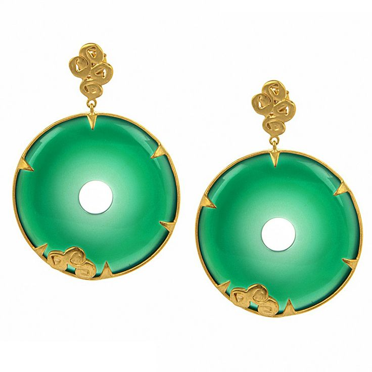 New Yorker: Large Green Onyx Earring I MY MAGNIFICO