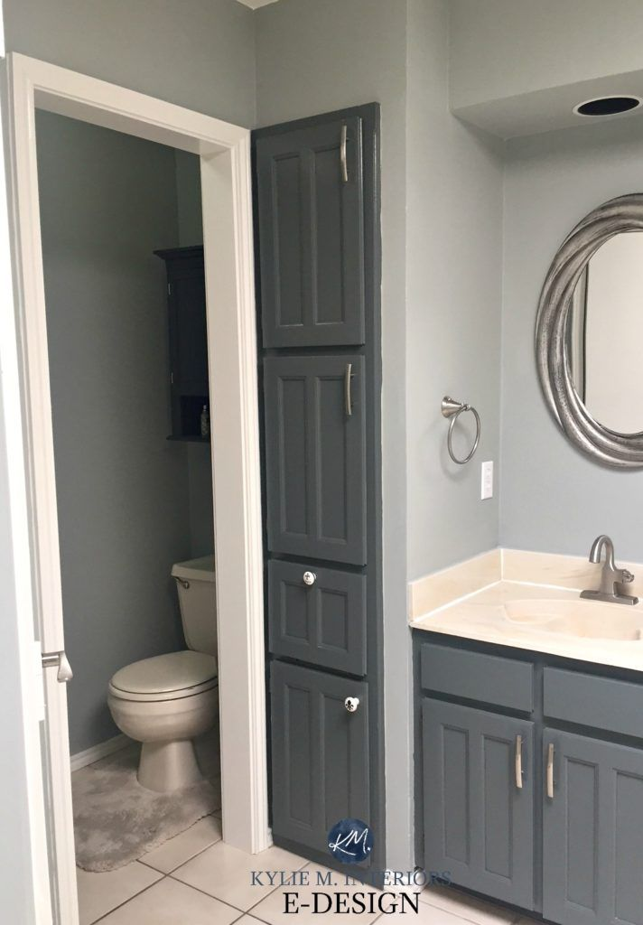 E Design An Almond Bathroom Gets A Fresh Paint Colour