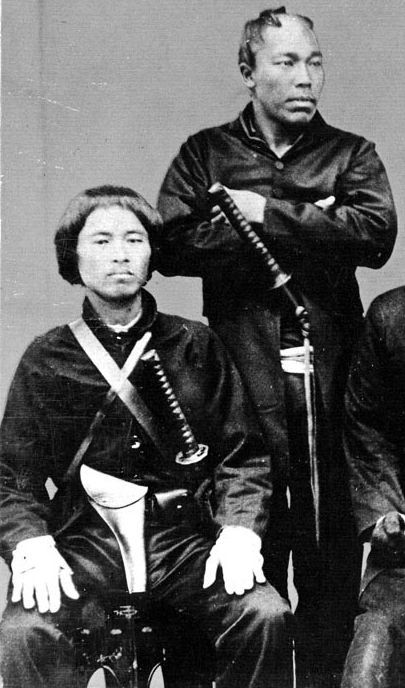 Samurai from the Satsuma clan, Boshin war era, late 1800s.