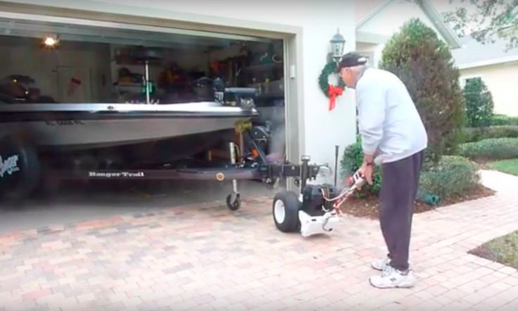 1000 images about parkit360 trailer dolly trailer mover for Motorized boat trailer mover