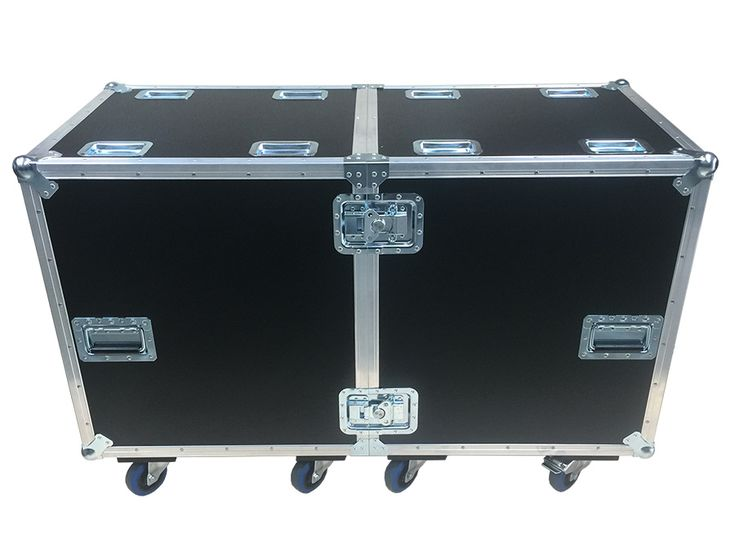 Split Half / Half Road Trunk to take 8x Led Panels. The road trunk is manufactured using 9mm PVC from Best Flight Cases