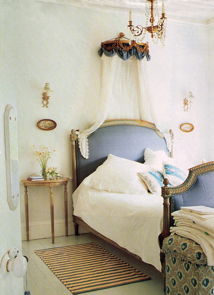 Very french bedroom blue white home ii pinterest for French blue bedroom design