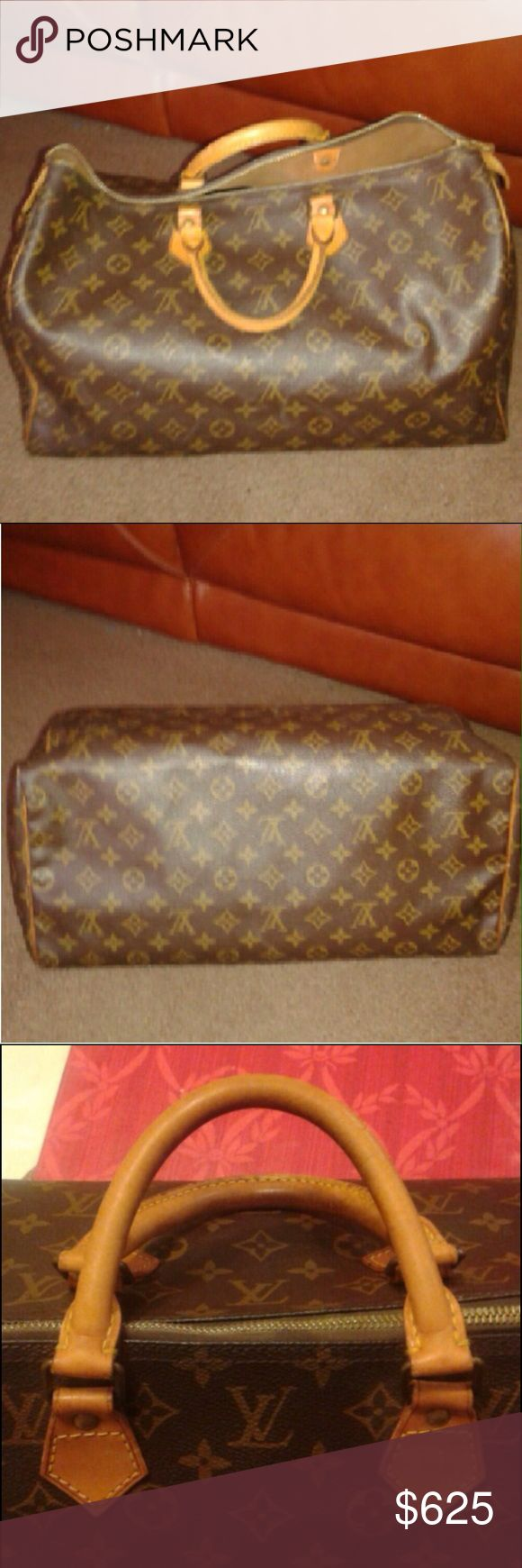 Authentic Louis Vuitton Speedy 40 After being lost in the postal service for 2 weeks. She's finally back. In excellent vintage condition. No rips, tears or smells. Zipper runs great. Louis Vuitton Bags Satchels